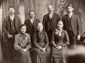 Elizabeth With Children: Peter, Ed, Sebastian, William (back L to R); Catherine and Mary (front L to R)
