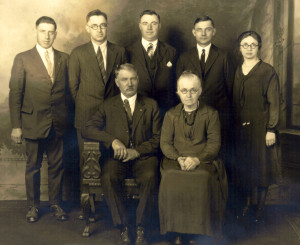 Peter and Elizabeth Farabaugh Family: Gilbert, Urban, Amandus, George, Mary (L to R).