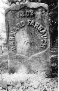 Bernhard Farabaugh Tombstone