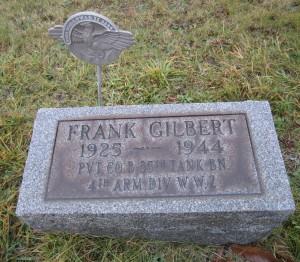 Frank Gilbert Tombstone