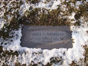 James C. Farabaugh Tombstone
